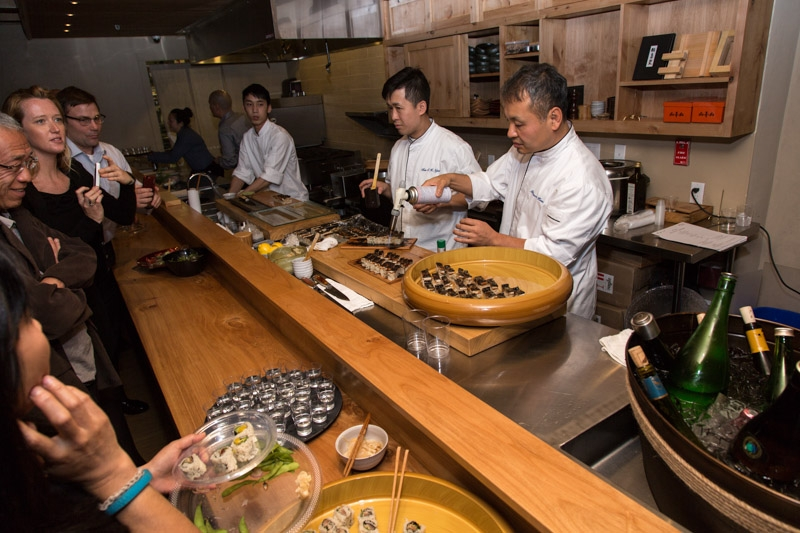 Guests watching sushi preparation (Michelle Edmunds)