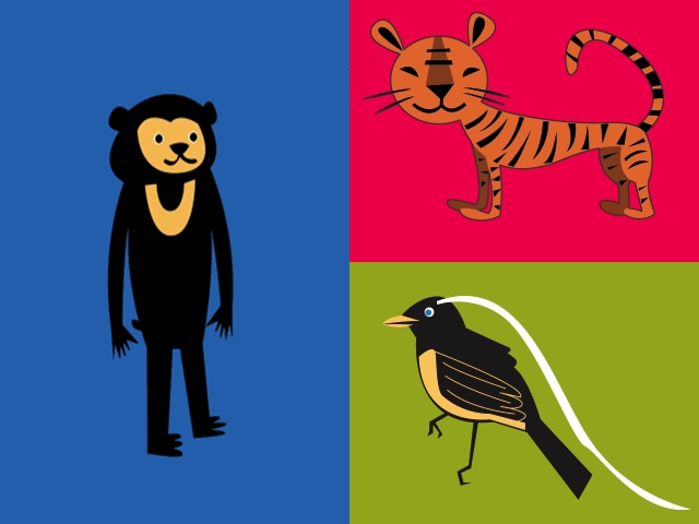Graphic of animals. (Beegee Tolpa)