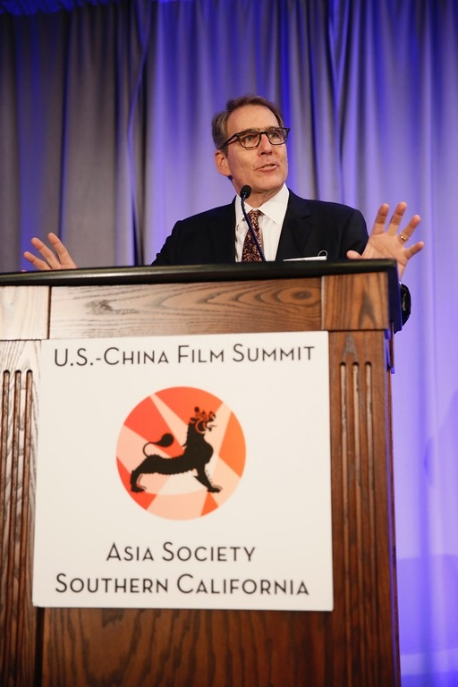 Jonathan Karp speaks at the 2016 U.S.-China Film Summit held at UCLA on November 1, 2016 in Los Angeles, California.