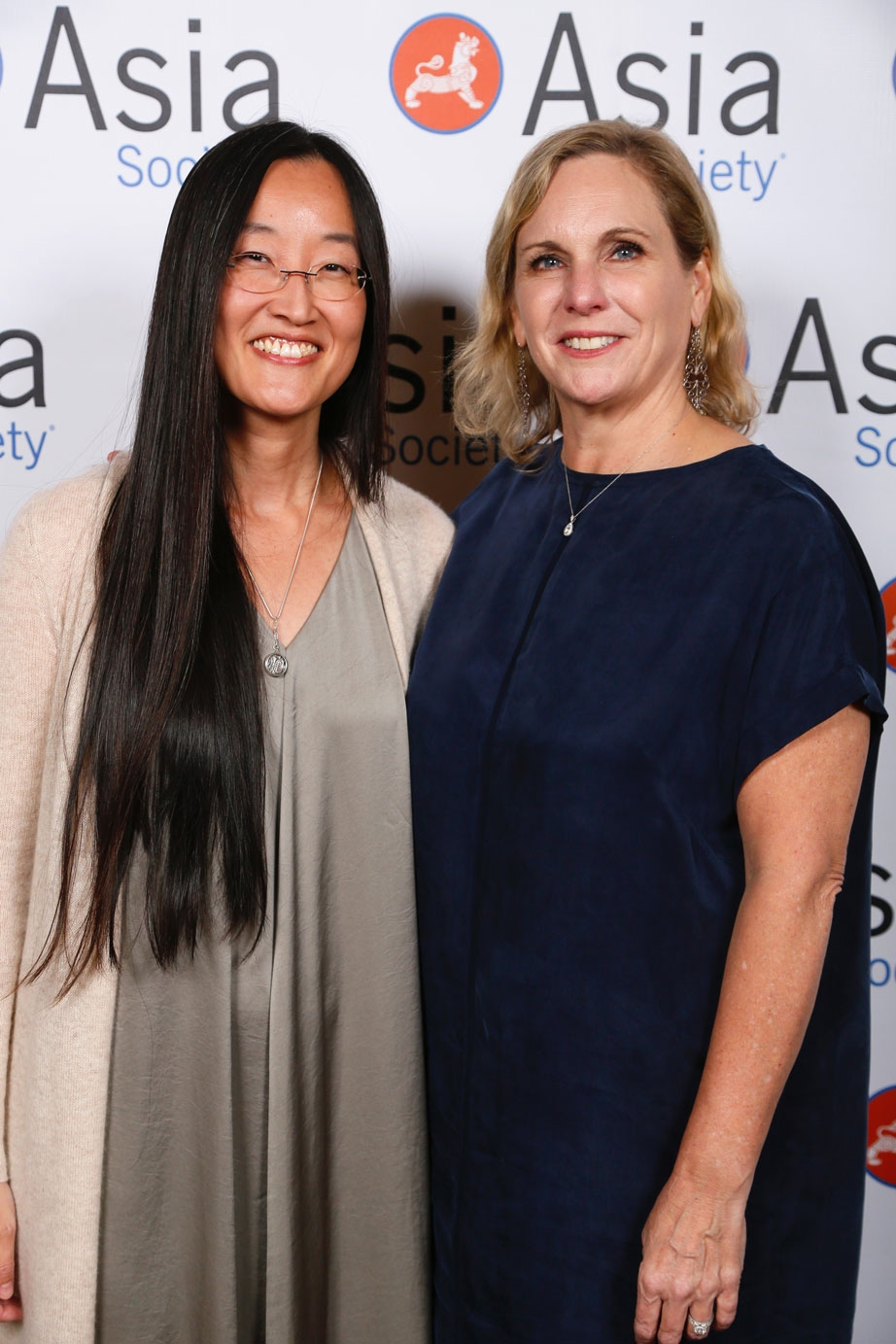 From left, Jennifer Yuh Nelson, Director Kung Fu Panda 3 and Melissa Cobb, Head of Studio and Chief Creative Officer Oriental DreamWorks arrive during the 2016 U.S.-China Film Gala Dinner held at the Millennium Biltmore Hotel on Wednesday, November 2, 2016, in Los Angeles, California.