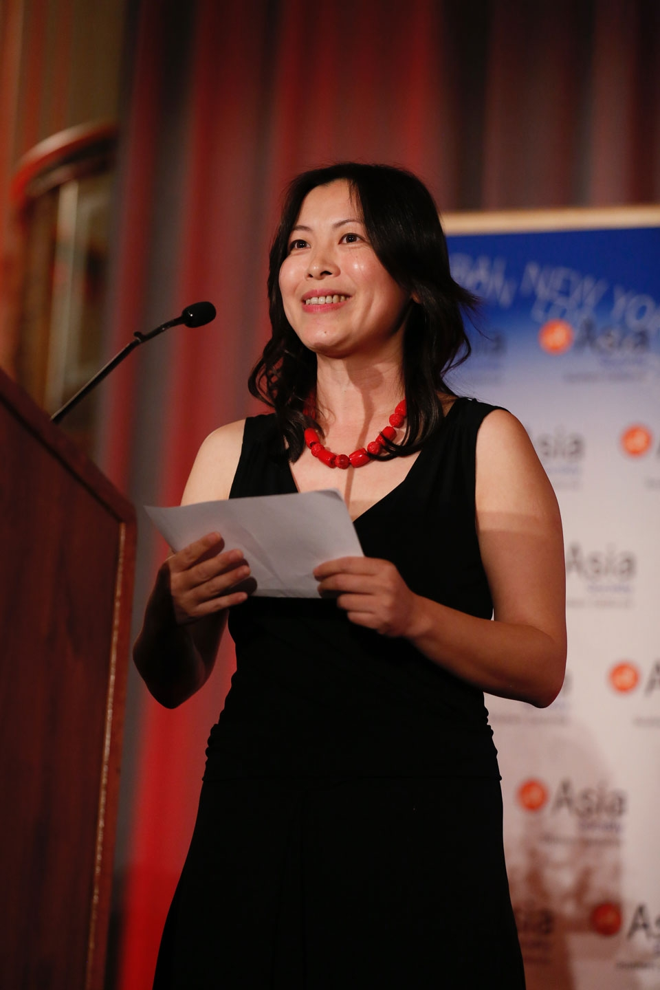 Seagull Song speaks during the 2016 U.S.-China Film Gala Dinner held at the Millennium Biltmore Hotel on Wednesday, November 2, 2016, in Los Angeles, California.