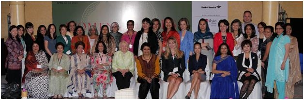 "Attendees at Asia Society's fourth annual ""Women Leaders of New Asia"" summit in New Delhi, April 2013. (Asia Society India Centre)"