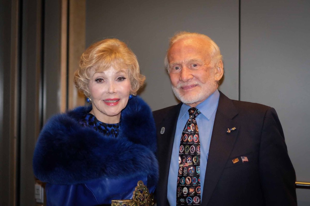 Left to Right: Joanne Herring and Buzz Aldrin (Jessica Ngo)