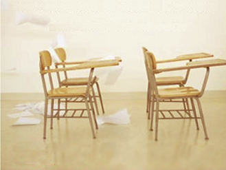 desk chairs (From the cover of Dr. Wagner's book, \The Global Achievement Gap)