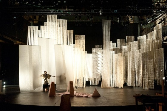 "Recycling: Washi Tales, which will be staged at Asia Society on March 24 and 25, uses live performance to enliven the human stories contained in sheet of ""washi,"" Japanese handmade paper, as it is recycled through time. (Valerie Oliveiro)"