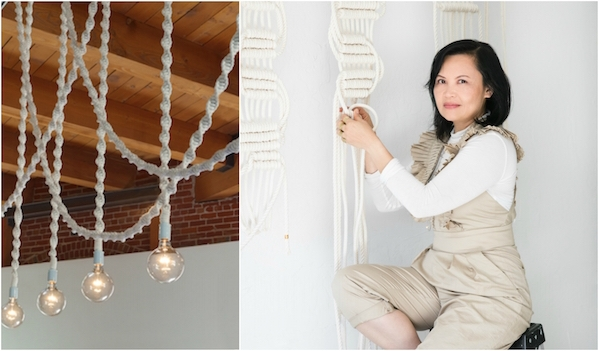 Helix Light by Windy Chien (Cesar Rubio), Artist Windy Chien (Molly Decoudreaux)