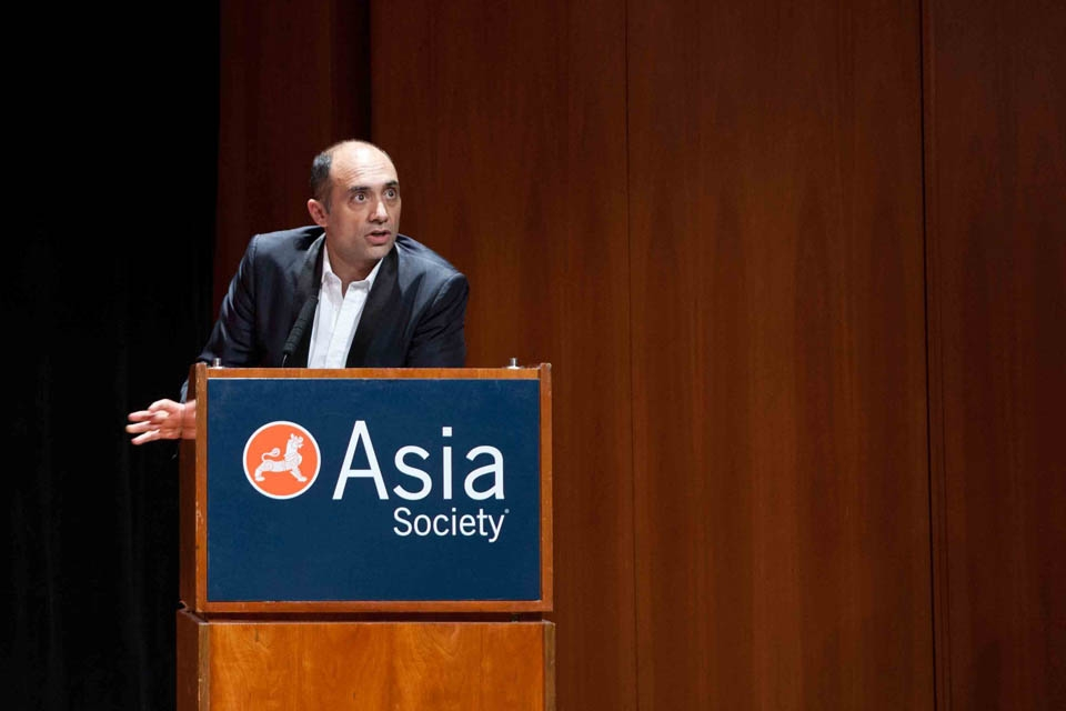 Vali Mahlouji at Asia Society New York on October 5, 2013.