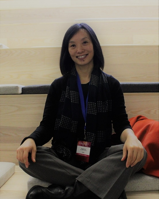 Yingzhao Liu of LinkedIn takes a break before the afternoon workshop (Stesha Marcon).
