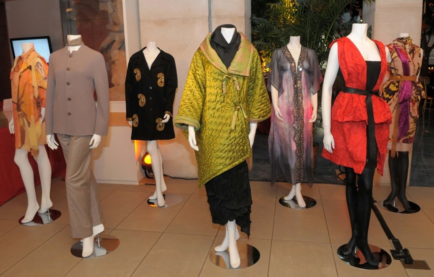 The night's benefit auction allowed guests to bid on couture outfits designed by Thuy Diep, Han Feng, Alia Khan, Auguste Soesastro, and Vivienne Tam. (Elsa Ruiz/Asia Society)