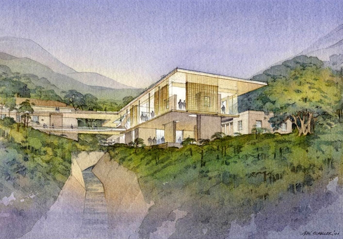 Artist's rendering of the new Asia Society Hong Kong Center.