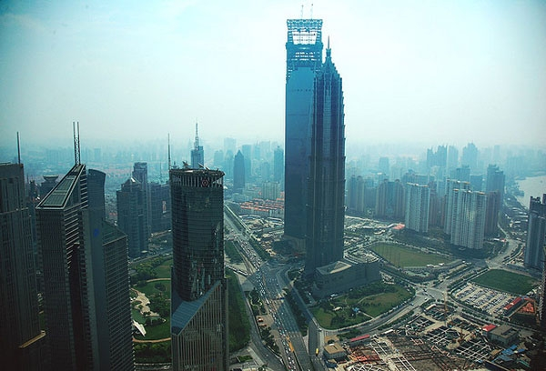 View from the Oriental Pearl Tower in Shanghai looking over development in PuDong, 2007. (FrankTheFotographer.com/Flickr)