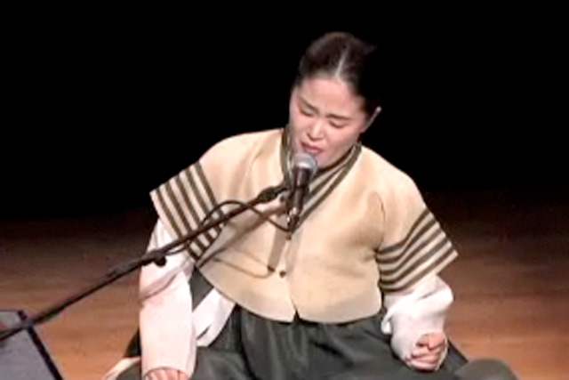 A member of the Tori Ensemble at the Asia Society on Dec. 5, 2008.
