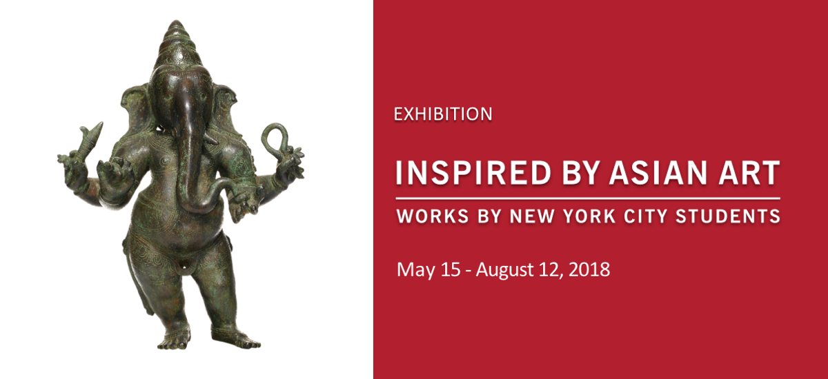 Promotional image for Inspired by Asian Art exhibition at Asia Society Museum