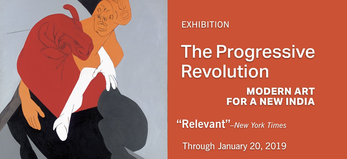 Exhibition poster for The Progressive Revolution: Modern Art for a New India