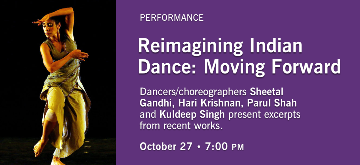 Reimagining Indian Dance performance poster