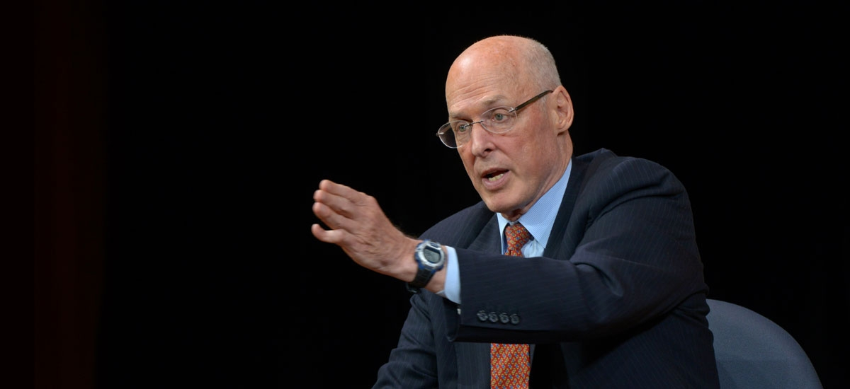 Hank Paulson on a U.S.-China Economic Iron Curtain