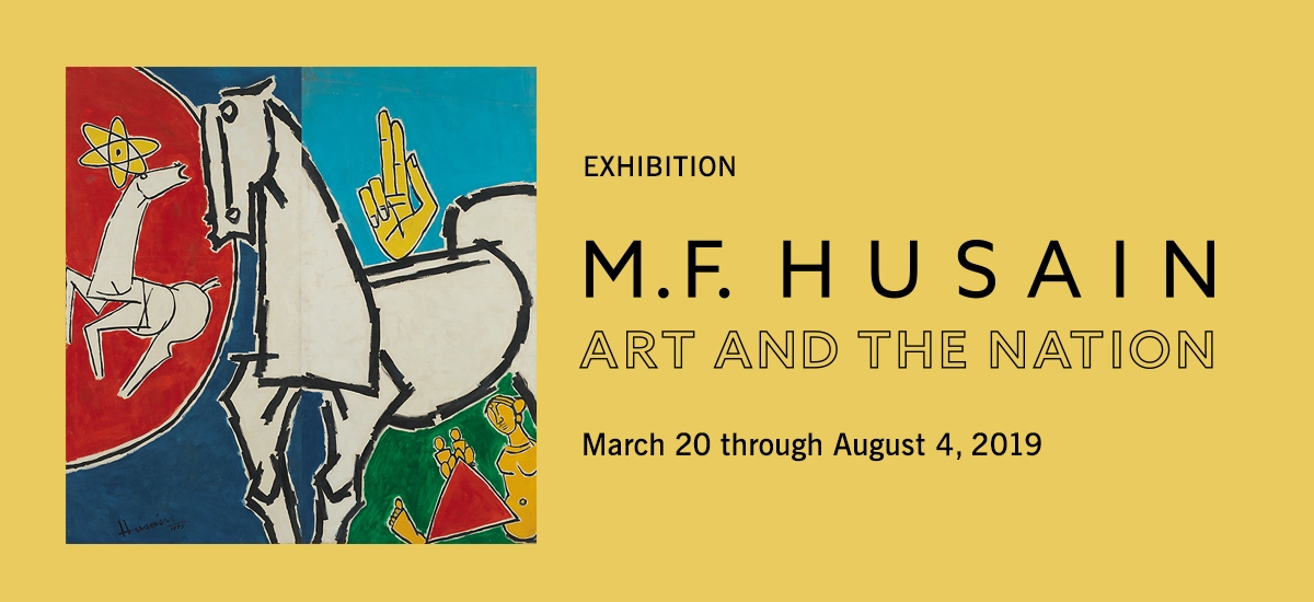M.F. Husain: Art and the Nation at Asia Society New York
