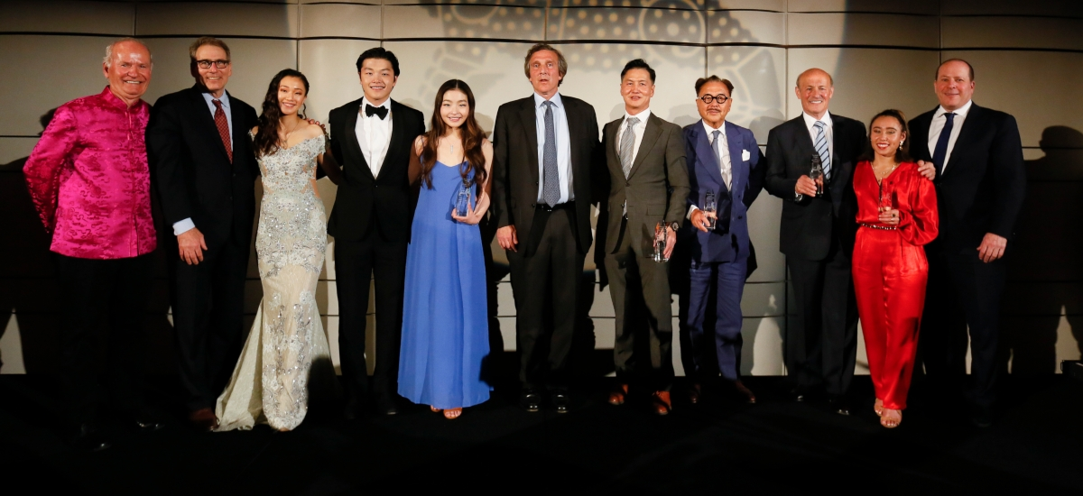 Honorees and presenters of the Asia Society Southern California annual gala