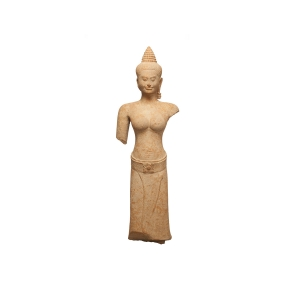 Female Figure (one of a pair). Cambodia. Angkor period, Bayon style, late 12th–early 13th century.