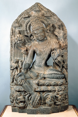 Bodhisattva Avalokiteshvara in the Form of Khasarpana Lokeshvara. India, Bengal. Pala period (8th-12th century), late 11th-early 12th century.