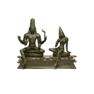 Shiva and Parvati (Somaskanda). India, Tamil Nadu. Chola period, 12th century.
