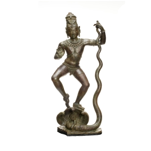 Krishna Dancing on Kaliya (Kaliyamarddaka Krishna). India, Tamil Nadu. Chola period, late 10th–early 11th century.