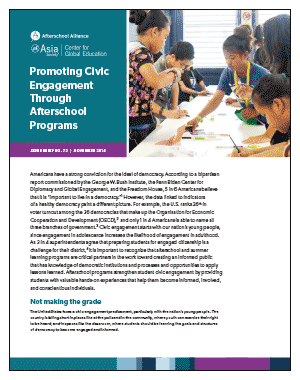 Cover: Promoting Civic Engagement Through Afterschool Programs