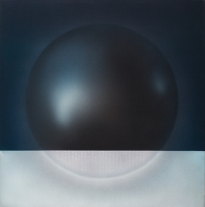Hon Chi-fun, Floating Weight, 1976, acrylic on canvas, 130 x 131 cm. Collection of the artist. Photograph by Arnold Lee.