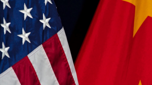 Flags of US & China