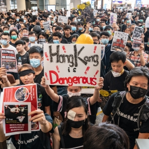 Hong Kong protesters occupied the territory's airport