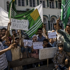 Kashmiri Muslims protest against India