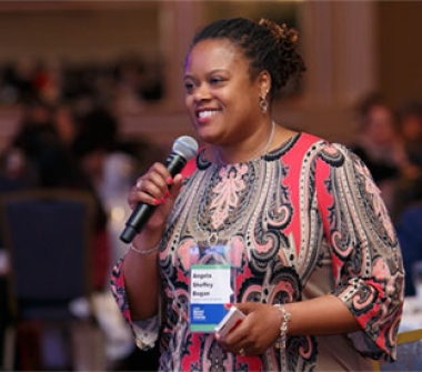 A woman speaks during NCLC 2016.