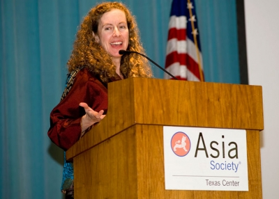 Dr. Jennifer Turner, head of the China Environment Forum at the Woodrow Wilson International Center for Scholars, at a recent lecture/luncheon hosted by Asia Society Texas Center. (Jeff Fantich Photography)