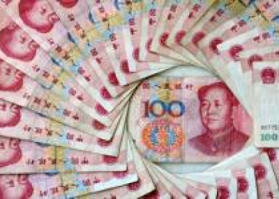 China's 100 yuan, or renminbi, notes, the largest denomination in Chinese currency. (Frederic J. Brown/AFP/Getty Images)