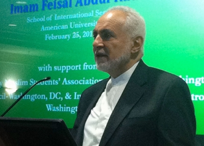 Imam Feisal Abdul Rauf speaks about Islam in a multicultural world in Washington, DC on Feb. 25, 2011.  (Asia Society Washington Center)