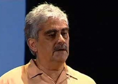 Nadeem ul Haque giving a talk at TedxLahore in July 2010.