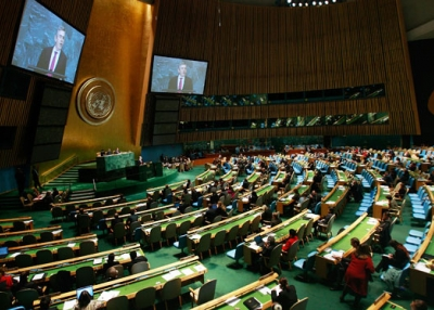 The United Nations General Assembly in session. (Mario Tama/Getty Images)