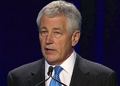 Former U.S. Senator Chuck Hagel addressing Asia Society's 2012 National Chinese Language Conference in Washington, D.C on April 12, 2012.