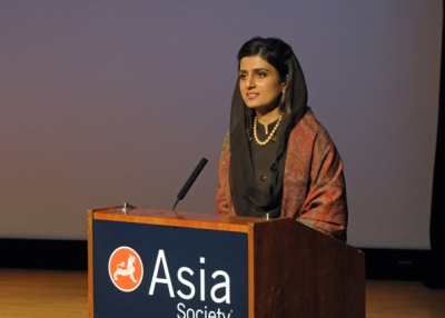 Pakistani Foreign Minister Hina Rabbani Khar at Asia Society New York on January 15, 2013. (Elsa Ruiz)