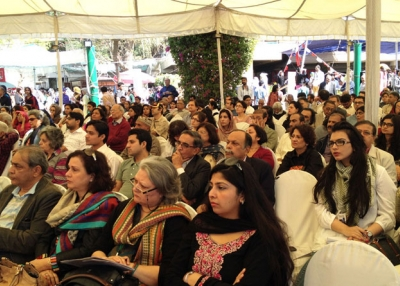 In 2013, the Karachi Literature Festival grew to three days' worth of events and attracted approximately 15,000 attendees. (Annie Ali Khan)