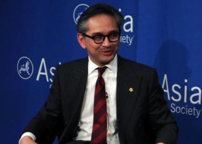 Dr. Marty Natalegawa, Foreign Minister of Indonesia, at Asia Society New York on September 19, 2013.
