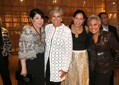 Doris Ho, Suze Orman, Alexandra Cecala, and Kathy Travis at the 'Philippine Gold' opening gala. (Sylvain Gaboury/Patrick McMullan Company)