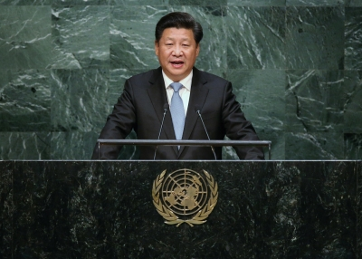 President Xi Jinping of China addresses the UN General Assembly.