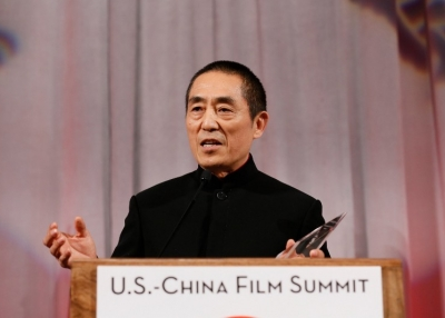 Acclaimed director Zhang Yimou receives the Lifetime Achievement Award at the 2015 Asia Society U.S.-China Film Summit and Gala on Thursday, November 5, 2015, in Los Angeles. (Ryan Miller/Capture Imaging)