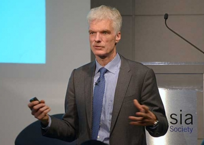Andreas Schleicher speaks at Asia Society in New York on December 8, 2016. (Elsa Ruiz/Asia Society)