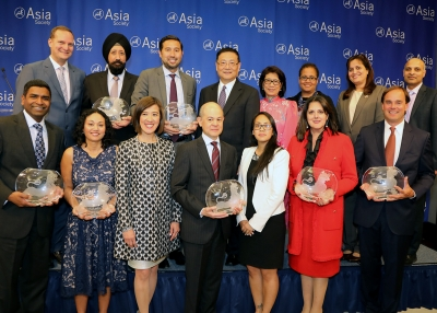 Representatives from award-winning companies at the 2017 Best Employer Awards Ceremony at the Asia Society in New York on May 24, 2017. (Ellen Wallop/Asia Society)