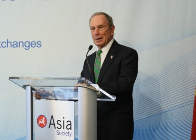 Michael Bloomberg speaks at Asia Society. (Ellen Wallop/Asia Society)