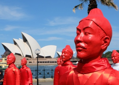 The Lanterns of the Terracotta Warriors in Sydney. (Jonathan O'Donnell/Flickr)