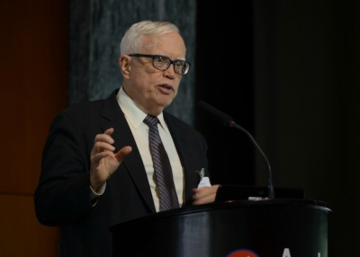 University of Chicago professor James Heckman speaks at the Forum on the Future of Education in Asia in Hong Kong on November 16, 2015. (Alex Leung/Asia Society)