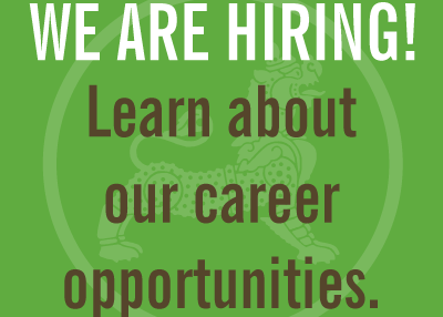 We Are Hiring! Learn about our career opportunities